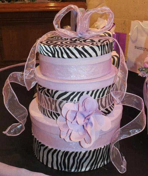 Lavender Zebra round gift card box